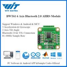WitMotion Bluetooth 2.0 AHRS BWT61 capteur 6 axes Angle dinclinaison numérique + accéléromètre + gyroscope MPU6050 inclinomètre pour PC/Android