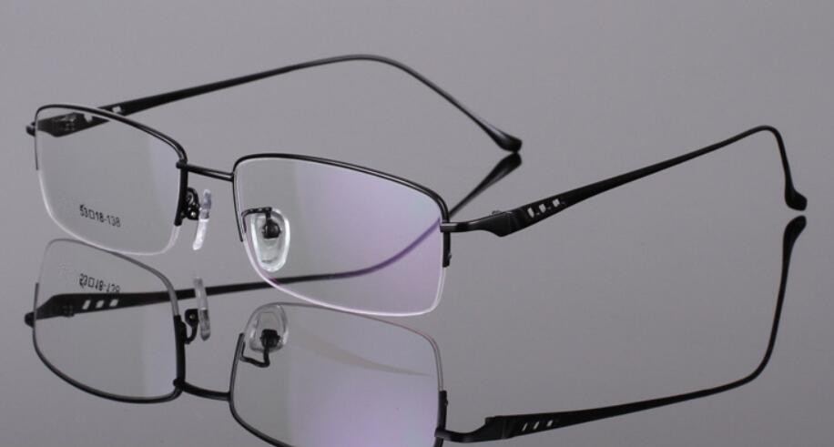 Metal Fashion Black Half Rimless Reading Glasses Man Women +100 +125 +150 +175 +2 +225 +250 +275 +3 +325 +350 +375 +4 +425 +450