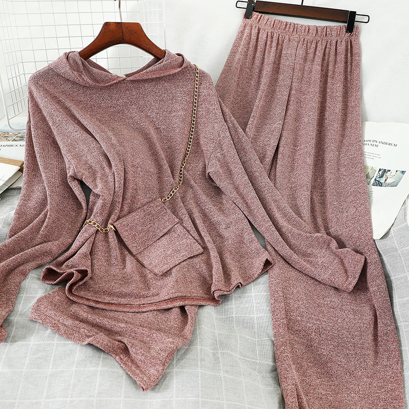 Heliar Women Two Pieces Outfits Women Elastic Wallet Hoody Pullovers Tops And Trousers Sets Women Summer Pajamas Sets For Women