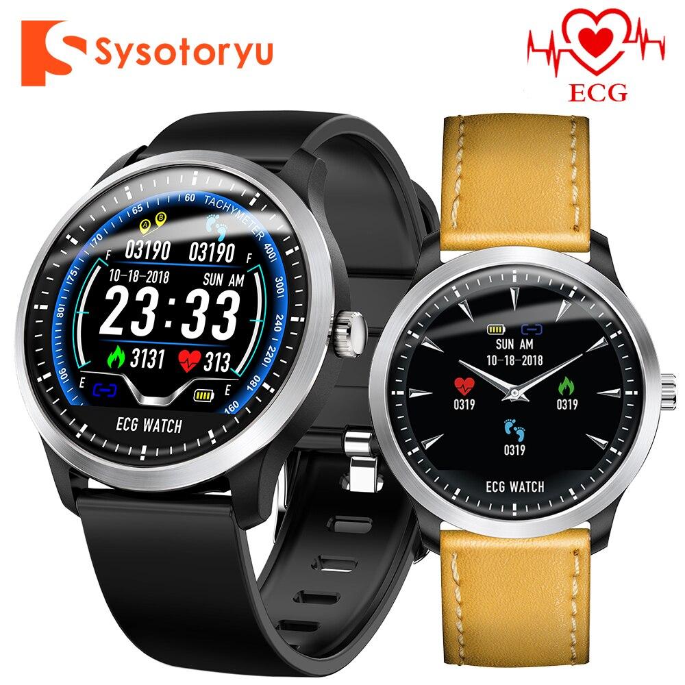 SYSOTORYU N58 Montre Intelligente ECG PPG Moniteur de Pression Artérielle De fréquence Cardiaque Smartwatch Sport Podomètre Fitness Bracelet Hommes Femmes Montre