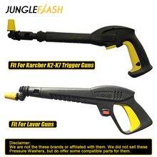 หมุนDirt ShockหัวฉีดTurbo Turbo 360 ° Gimbaled Spinเครื่องฉีดน้ำแรงดันสูงหัวฉีดสเปรย์เคล็ดลับFitสำหรับKarcher Triggerปืน