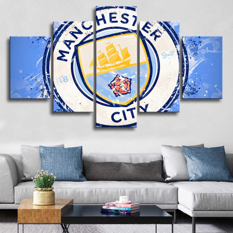 HD Манчестерский город футбол плакаты 5 шт. холст картины Настенные рисунки