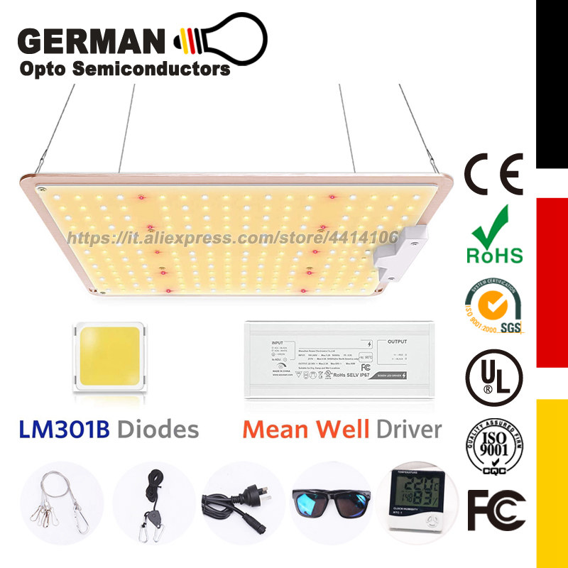 SF-1000 LED Grow Light with LM301B Diodes & Dimmable waterproof Driver Sunlike Full Spectrum Plants Lights Flower Growing Lamp