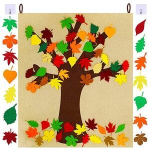 Поделки для детей классная комната, для стен арт благодарения домашняя страница фон Спальня Многофункциональный осень листовые украшения ...