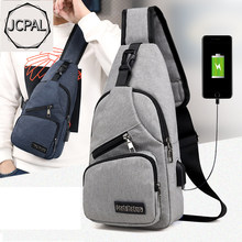 Male Shoulder Bags USB Charging Crossbody Bags Men Anti Theft Chest Bag School Summer Short Trip Messengers Bag 2019 New Arrival(China)