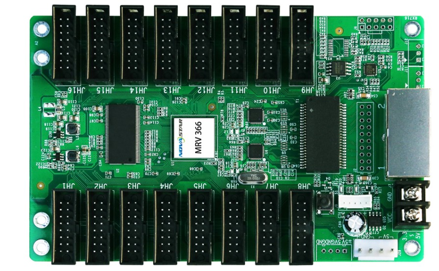 Indoor Outdoor Led Screen Full Color Video Panel Novastar LED Matrix Controller Board MRV366 Hub75 Full Color Receiving Card