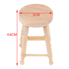 Mini Wooden Furniture-Model-Toys Dollhouse-Decoration Miniature-Accessories Simulation-Chair