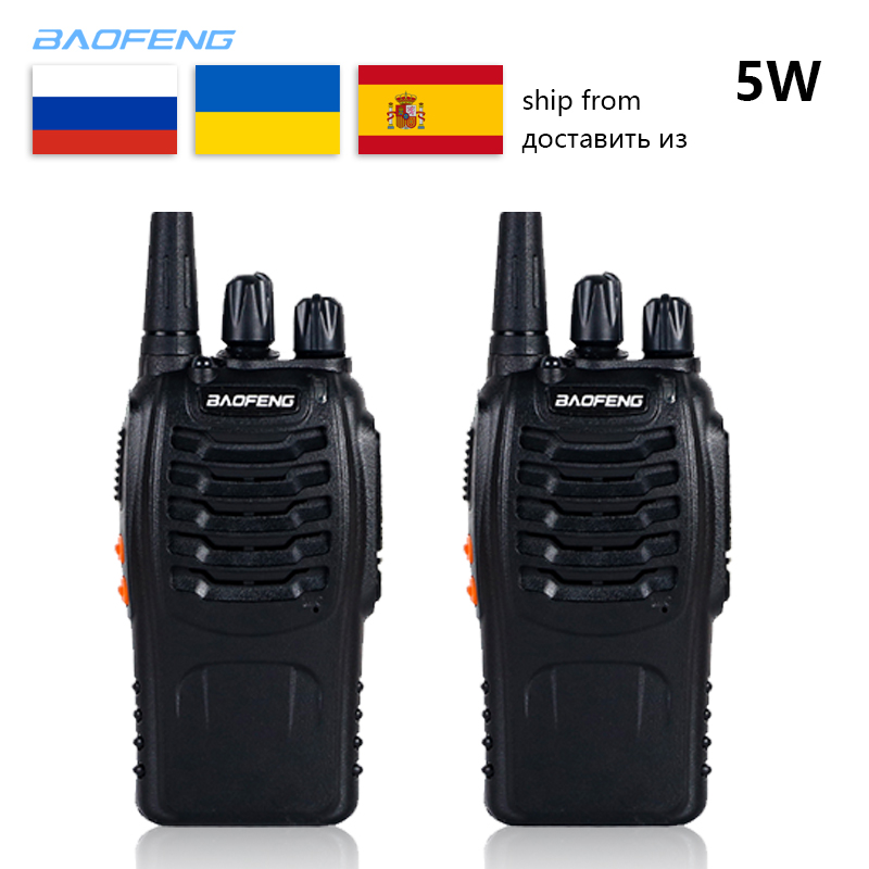 2 PCS Baofeng BF-888S Walkie Talkie 5W Handheld Bf 888s UHF 16CH Comunicador Transmitter Transceiver 2 Way Radio Outdoor