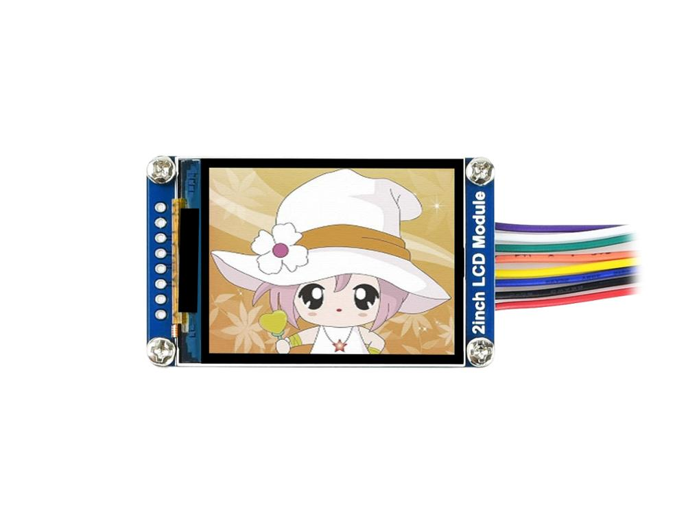Waveshare General 2inch IPS LCD Display Module, IPS Screen, 240*320 Resolution, SPI Interface