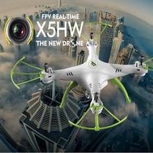 Original syma x5hw rc zangão com câmera hd wifi transmissão em tempo real de quatro eixos inteligente helicóptero brinquedo das crianças presente
