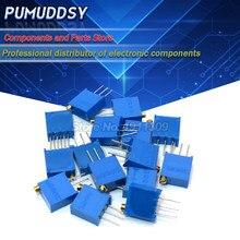 10pcs 3296W-1-103LF 3296W 103 K ohm 3296W-1-103 10 3296W-103 W103 Trimpot Trimmer Potenciômetro
