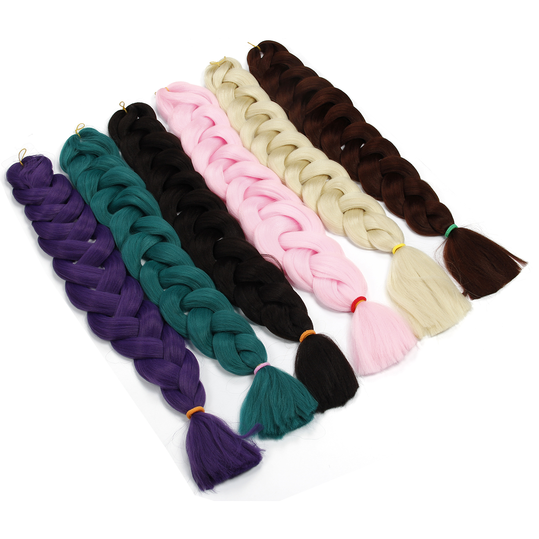 Synthetic Hair 82 Inches 165g Crochet Hair Black Brown Pink Purple Long Jumbo Braid Crochet Xpression Braiding Hair Kanekalon in Jumbo Braids from Hair Extensions Wigs