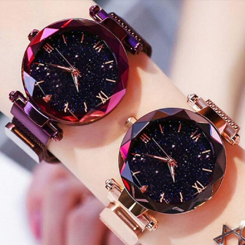Fashion Magnet Watch Starry Sky Watch Women Watches Ladies Wristwatch For Women Roman Gift Clock Reloj Mujer Montre Femme 2019