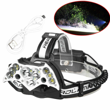 5 Mode Headlight Strong Light Running Super Bright Headlamp Torch Multicolor Portable Hiking Head Torch Lamp Fishing