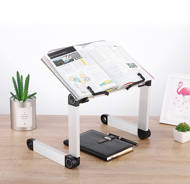 Creative Aluminium Alloy Metal 360 Degree Adjustable Book Reading Shelf Stand Books Reading Bookshelf Laptop Holder Stationery 2