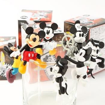 Disney Cartoon Peripheral Mickey Mickey Mouse Cup Edge Ornaments Tea Friends Cup Edge Pendant Toy Mini Figure Model напиток безалкогольный disney mickey mouse с виноградным соком 0 75 л