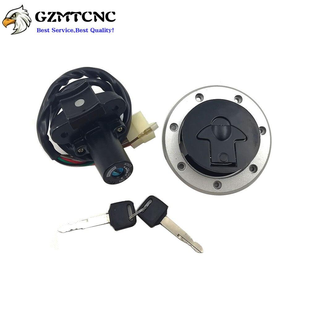 Ignition Switch Set Gas Cap Lock Key For  Kawasaki ZZR 400 600 NINJA ZX 7R 6R 9R