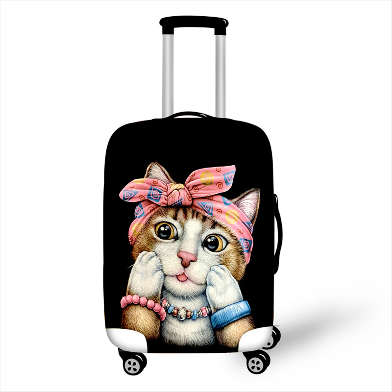 Cover Case Protective-Covers Travel-Accessories Trolley Kawaii with Zipper High-Elasticity title=