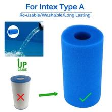 Басейн Пенный фильтр губка многоразовый Biofoam очиститель картридж для воды губки для Intex тип A повторное использование Чистка Аксессуары для бассейна бассейнфильтр для бассейна
