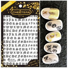 Newest TSC-160 alphabet nail letter stickers 3d art sticker decal stamping export japan designs rhine