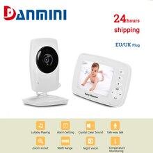 Nanny Camera Baby-Monitor Warning-Babysitter Temperature Video Talk DANMINI Night-Vision