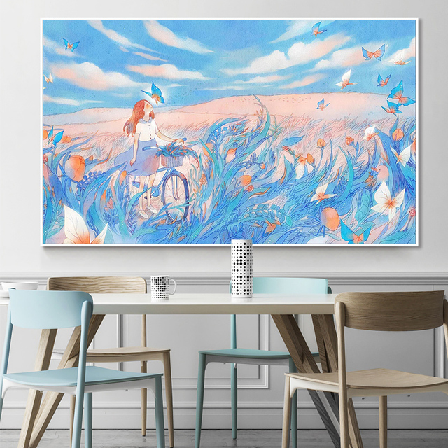 painting by numbers art paint by number Hand-painted small fresh dream landscape painting home corridor decorative painting