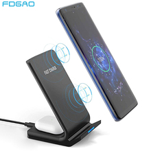 2 In 1 Wireless Charger Stand For Samsung S20 S10 Buds Qi 15W Fast Charging Dock Station for AirPods Pro For iPhone 11 XS XR X 8