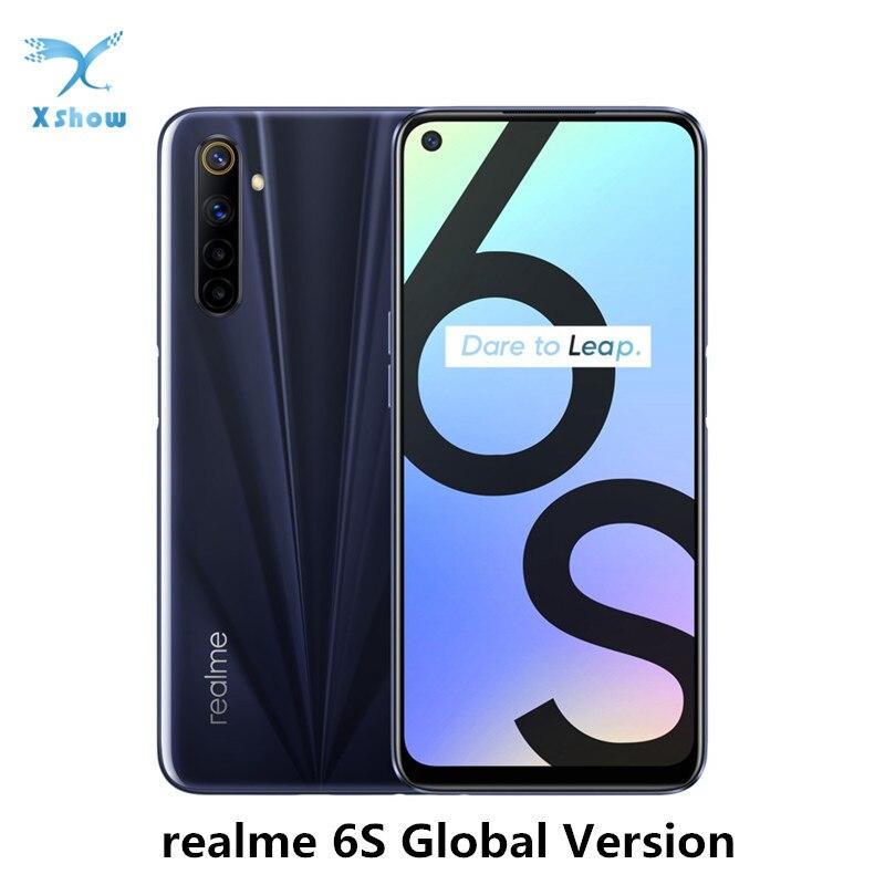 Versão global realme 6 s 6 s smartphone 90hz 6.5 display display exibir 6gb 128gb telefone móvel 48mp nfc 4300mah 30w carregador smartphone