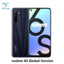 Realme 6 s 6 s 6.5 global global versão global 6gb 128gb helio g90t 30w flash carga 4300mah 48mp ai quad câmera octa núcleo do telefone móvel
