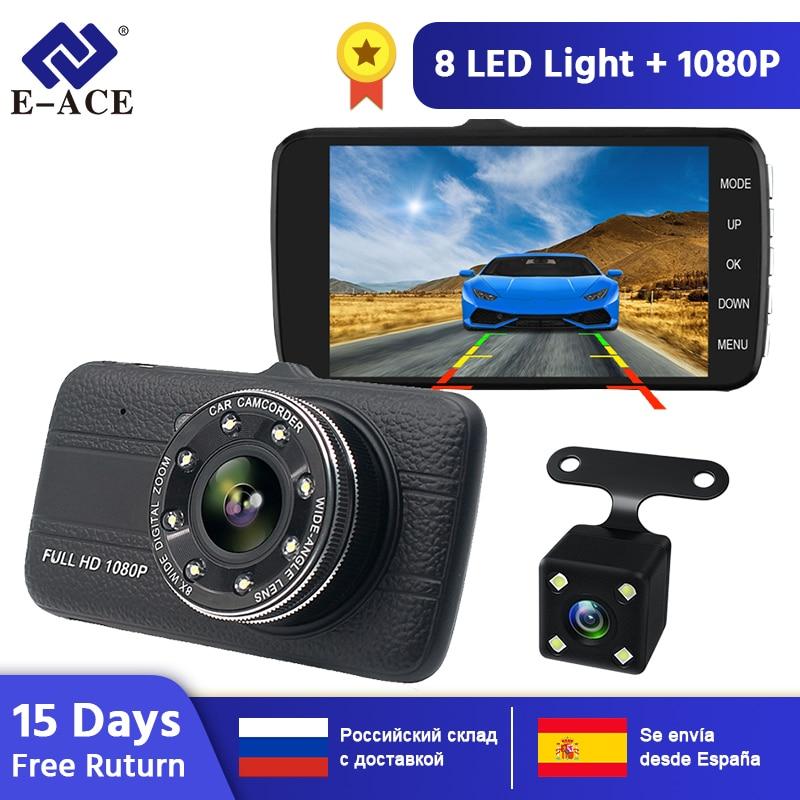 E-ACE B16 Auto Dvr 4,0 Inch Dash Cam Mit Rückansicht Kamera Volle HD 1080P Dual Lens Video Recorder auto Registrars Fahrzeug Dashcam