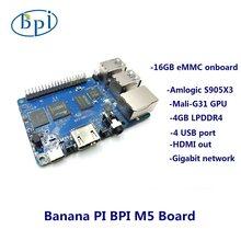 Banana PI BPI M5 4GB LPDDR4 nowa generacja komputer jednopłytkowy Amlogic S905X3 projekt Open-source Odroid C4 Raspberry Pi 4