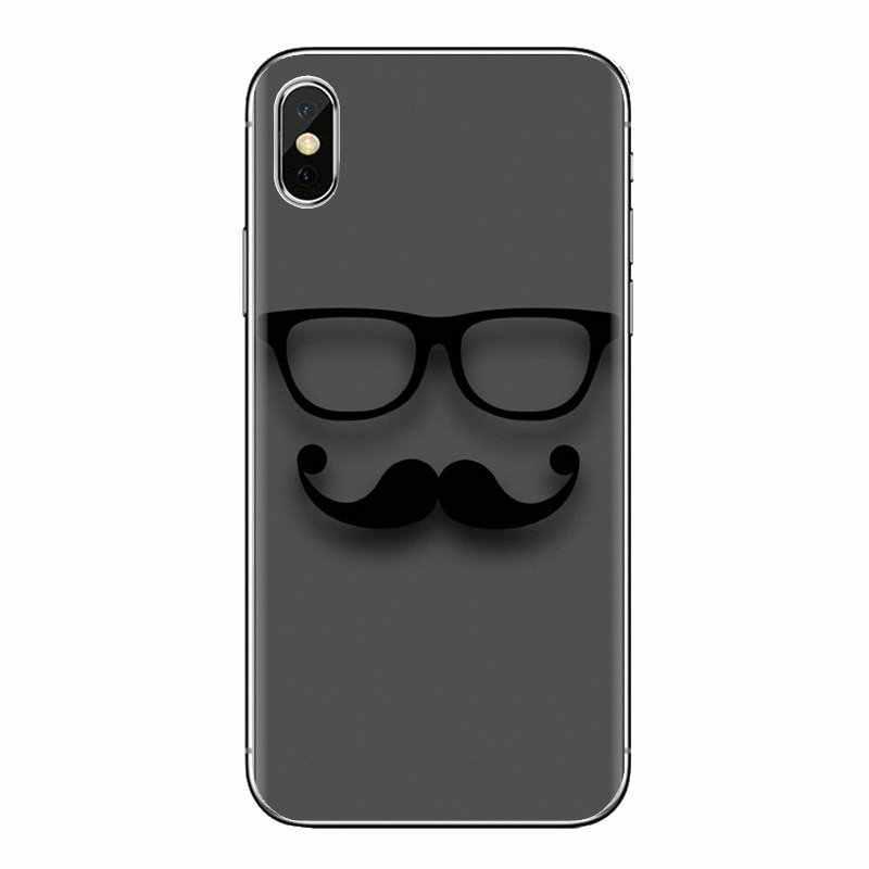 Cubierta del teléfono de la bolsa para Sony Xperia Z Z1 Z2 Z3 Z5 compacto M2 M4 M5 C4 E3 T3 XA Huawei mate 7 8 Y3II bigote barba bigote