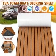Zelfklevende Foam Teak Decking Eva Foam Boot Vloeren Faux Teak Decking Sheet Accessoires Marine Boot Dek Mat 2400x600x6mm