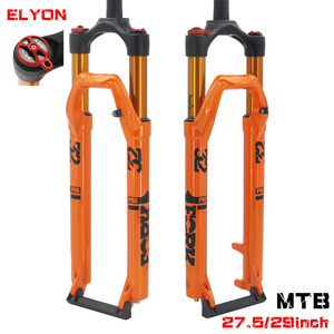 2019 New Bicycle Air Fork 26/ 27.5 /29er MTB Mountain Bike Suspension Air Resilience Bike Fork 120mm Traver axle 9*100mm