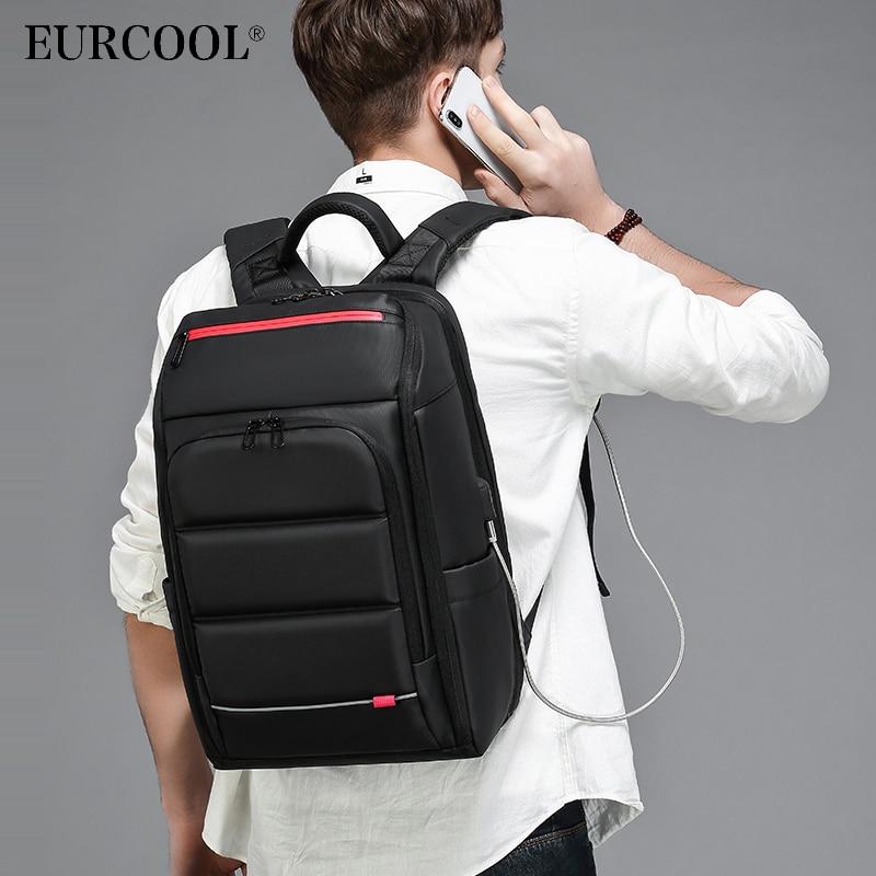 Nouveau sac à dos pour ordinateur portable 15.6 pouces pour hommes sac à dos fonctionnel hydrofuge avec Port de chargement USB sacs à dos de voyage mâle n0003-in Sacs à dos from Baggages et sacs    1