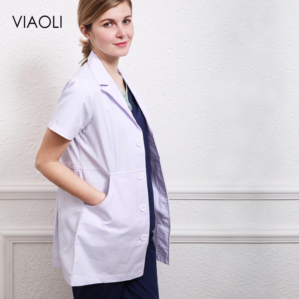 2019 Men Medical Clothes Unisex White Lab Coats Nurse Work Wear Uniforms Scrub Medical Doctor's Long Sleeve Jacket High Quality