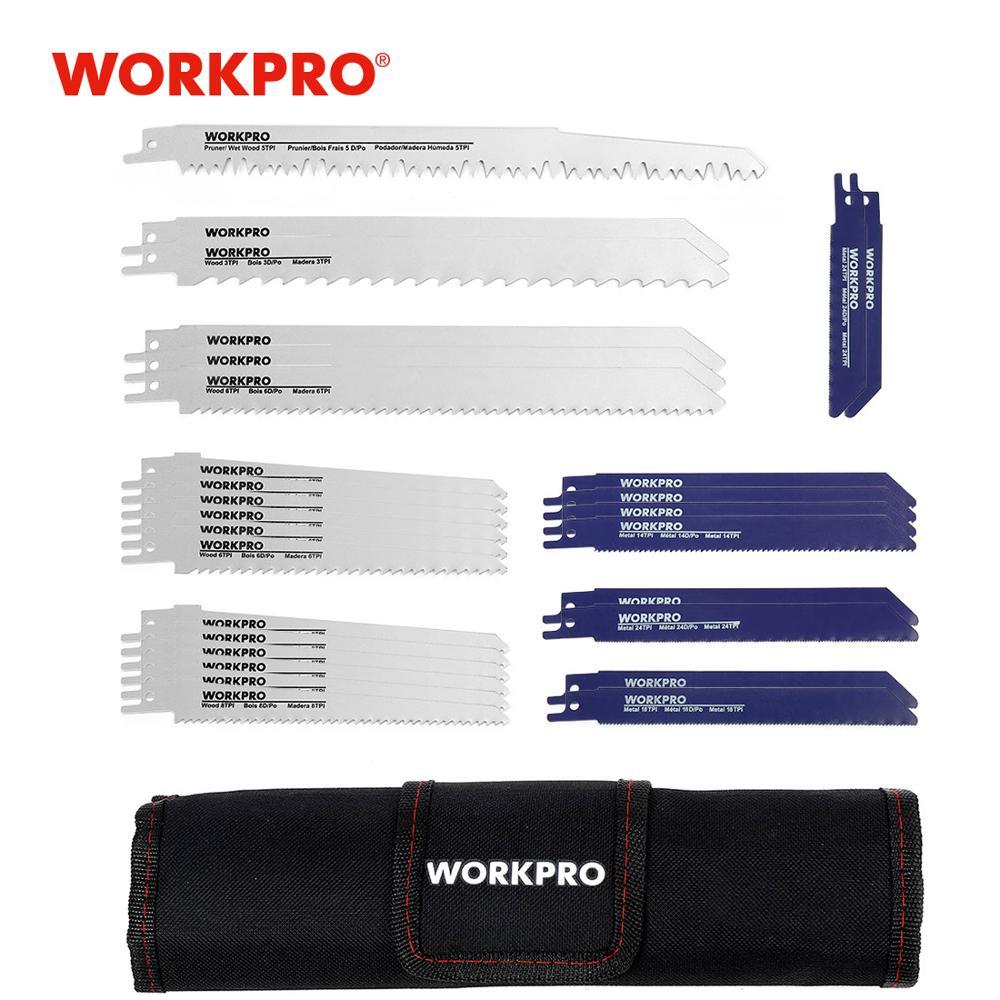 WORKPRO 32 шт., пилы для дерева, металла, режущие пилы, набор лезвий сабельной пилы, аксессуары для электроинструмента