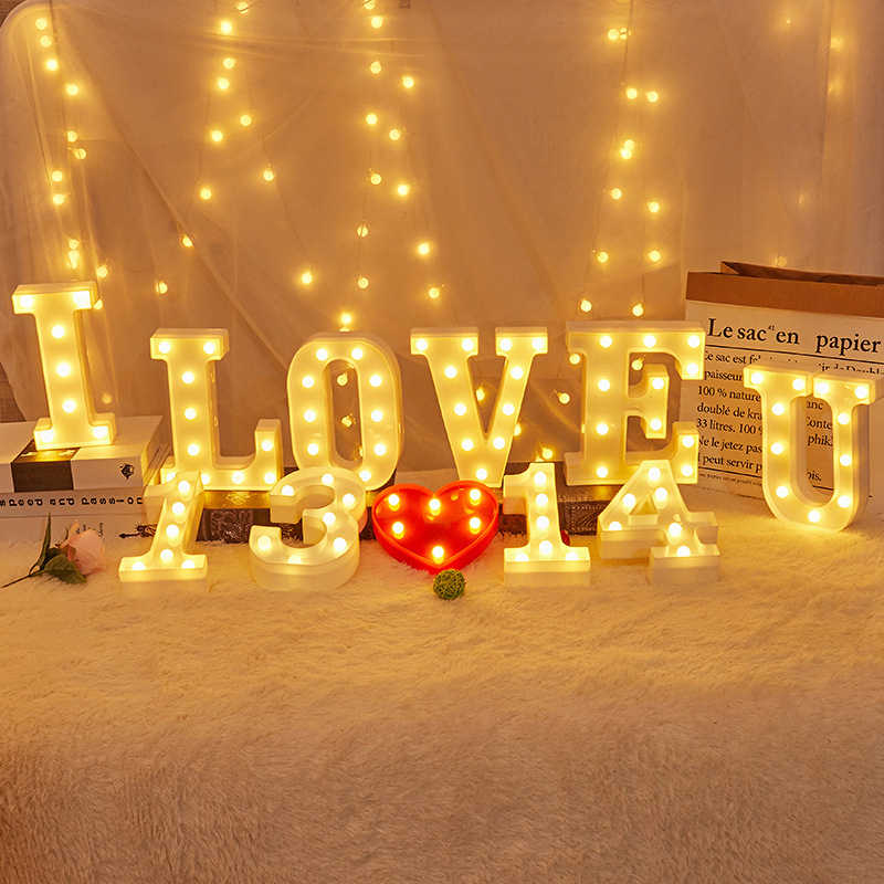 Liviorap Led Letters Night Light Wedding Decorations Home Culb Wall Diy Decor Party Wedding Birthday Decors Valentine S Day Gift Aliexpress,Front New Dream House Home Design