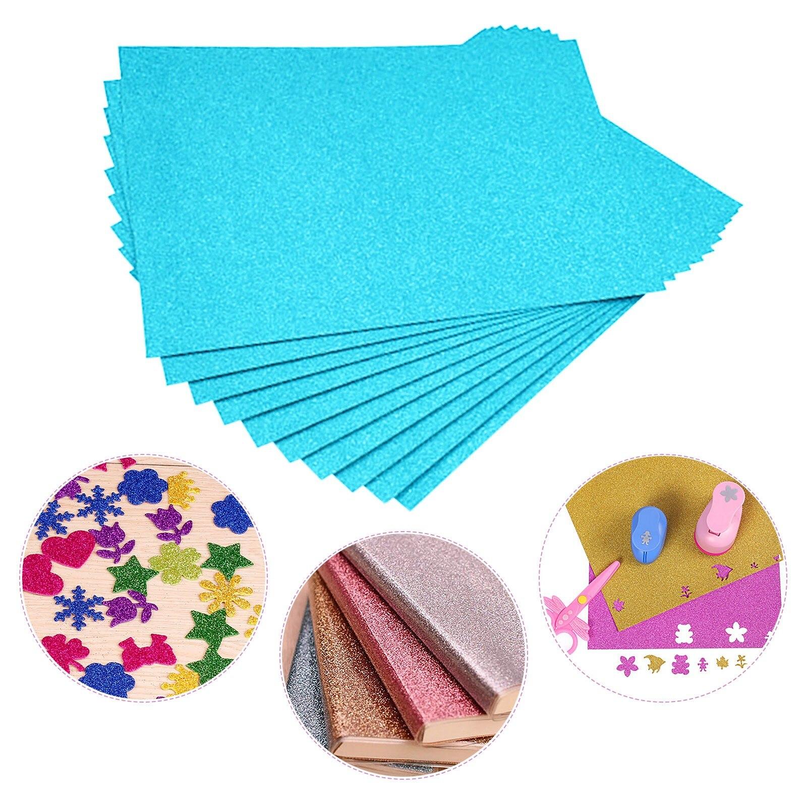 Sky Blue Glitter Cardstock Flash Card Paper Flash Shiny Craft Paper Advanced A4 Flash Paper Flash Shiny Craft Paper No Adhesive