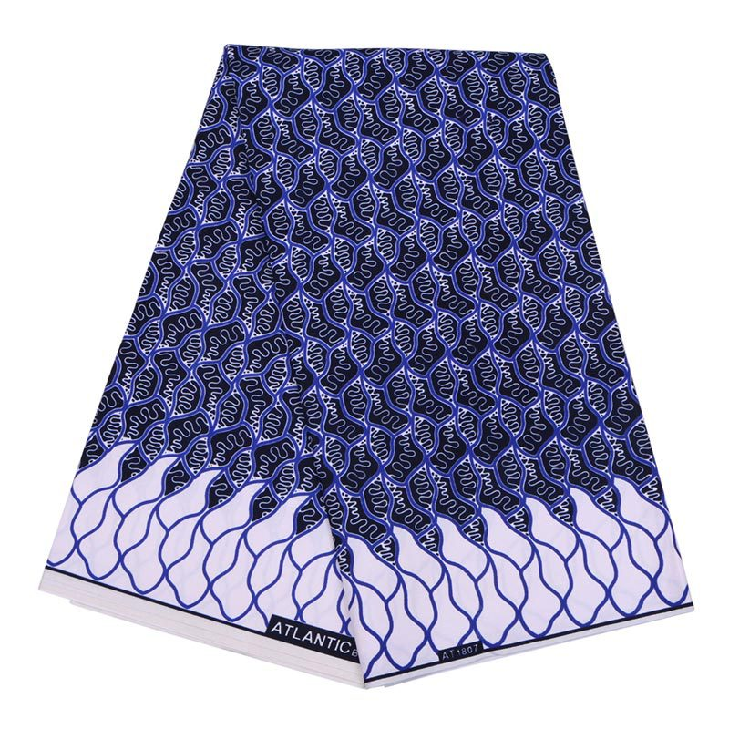 2019 Latest Arrivals African Nigeria Ankara Real Dutch Wax High Quality Sapphire Blue Printed Polyester Fabric