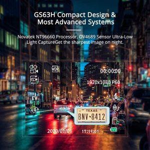 Image 3 - AZDOME GS63H araba çizgi kam 4K 2160P Dash kamera çift Lens dahili GPS DVR kaydedici Dashcam WiFi g sensor döngü kayıt
