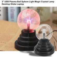 цена на 3 Inch ICOCO Magic USB Plasma Ball Sphere Light Magic Plasma Ball Crystal Light Transparent Lamp Home Decoration Top Quality