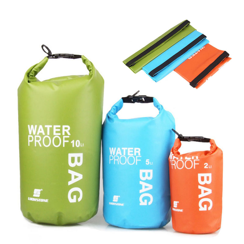 2L 5L 10L Outdoor PVC Waterproof Bag High Quality Ultralight Camping Hiking Swimming Dry Bag Drifting Kayaking Floating Bags