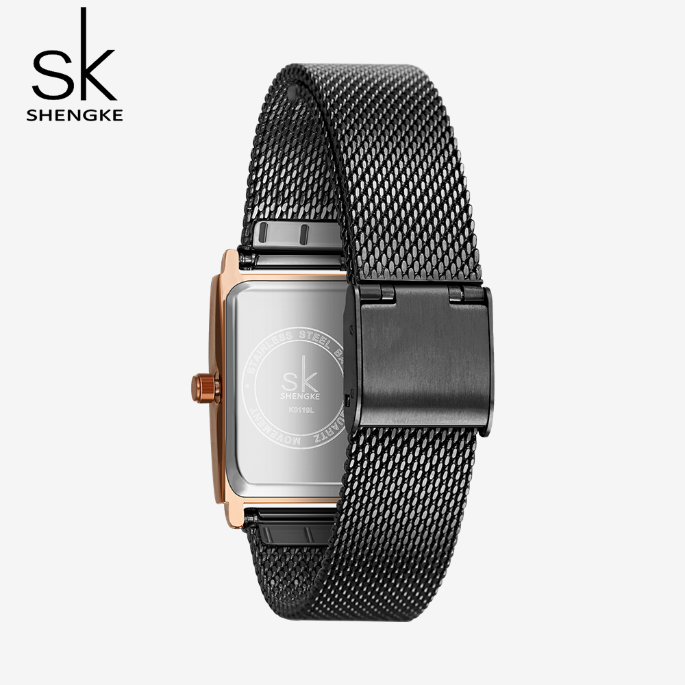Image 4 - Shengke New Top Brand Luxury Women Watch Rectangle Dial Elegant Quartz Japanese Ladies Wristwatches Waterproof Gift Reloj Mujer-in Women's Watches from Watches