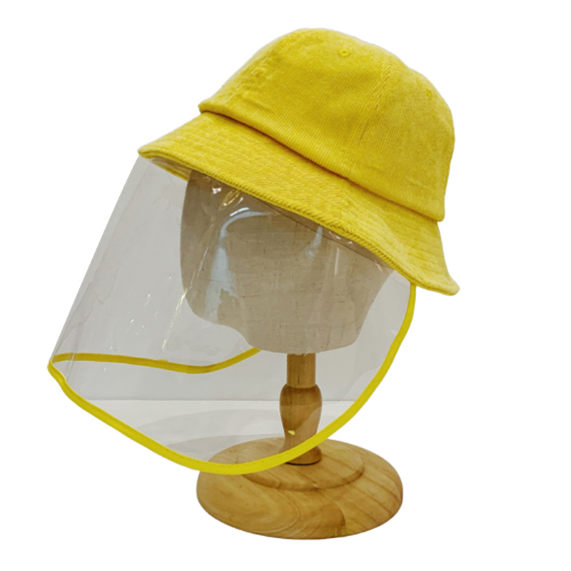 2020 New Protective Hat Anti-spitting Anti Dust Hat Face Cover Outdoor Fisherman Kids Adult Windproof Cap with Clear Shield