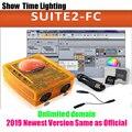 2019 новейшая версия Sunlite Suite2 FC DMX-USD управление Лер DMX 1536 каналов DJ вечерние светодиодный свет сценическое освещение контроль программного обе...