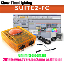 цена на 2019 Newest version Sunlite Suite2 FC DMX-USD Controller DMX 1536 Channels DJ Party LED Lights Stage Lighting control software