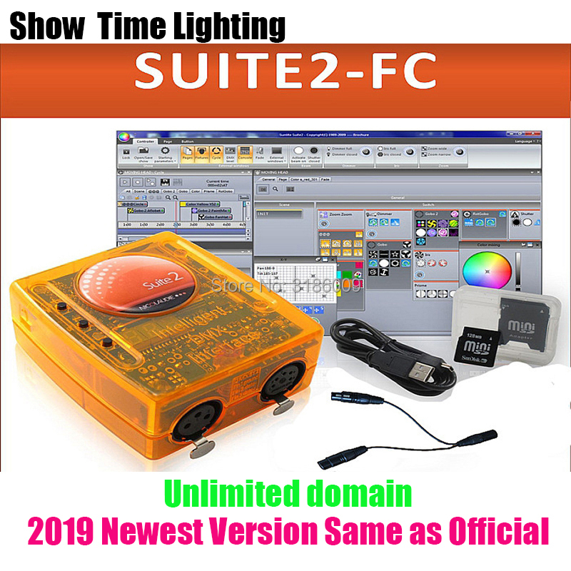 Promotion sale Sunlite Suite2 FC DMX USD Controller same as 2019 official version LED Lights Stage Lighting control software in Stage Lighting Effect from Lights Lighting