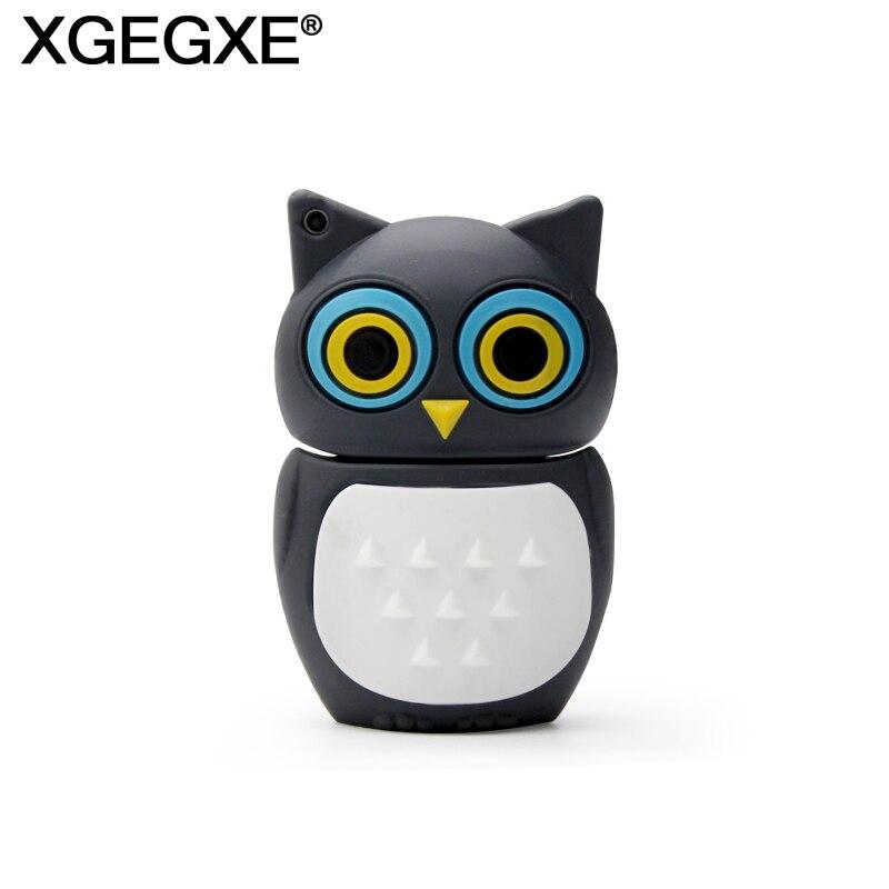 Cartoon Animal Flash Drive 64GB 32GB 16GB 8GB Memory Stick Cute Owl USB 2.0 Pendrive Flash Drive For Computer