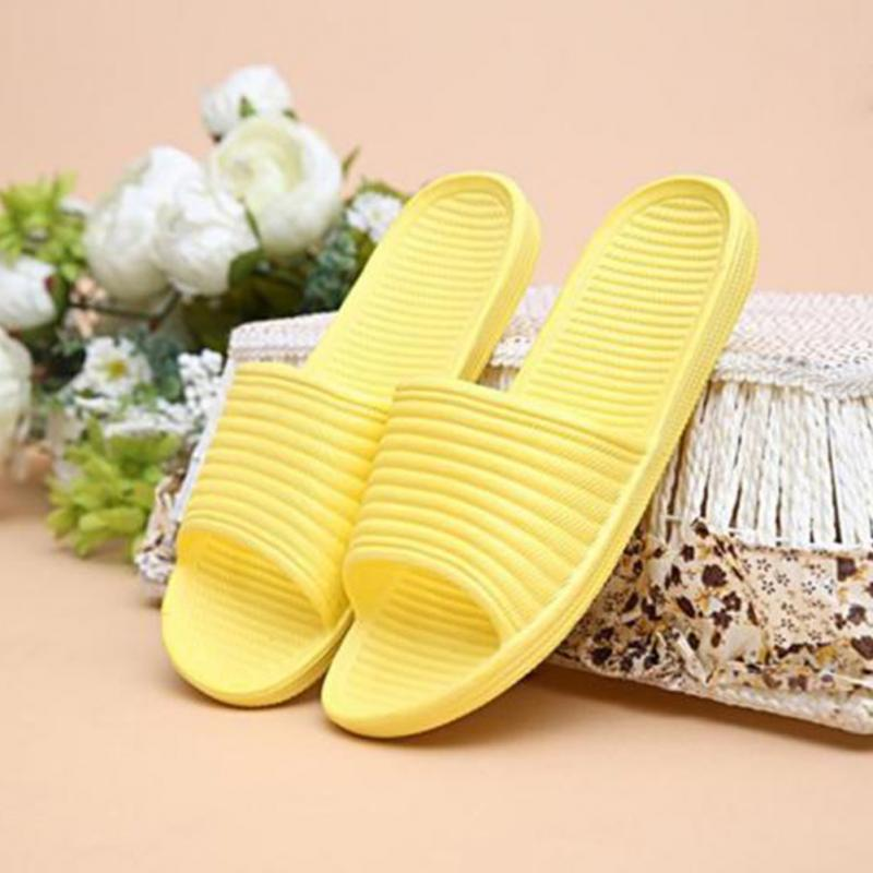 Summer Women Home Slippers Candy Color Flat Home Bath Shoes  Non-slip Indoor Bathroom Shoes Outdoor EVA Girl Solid Shoes New
